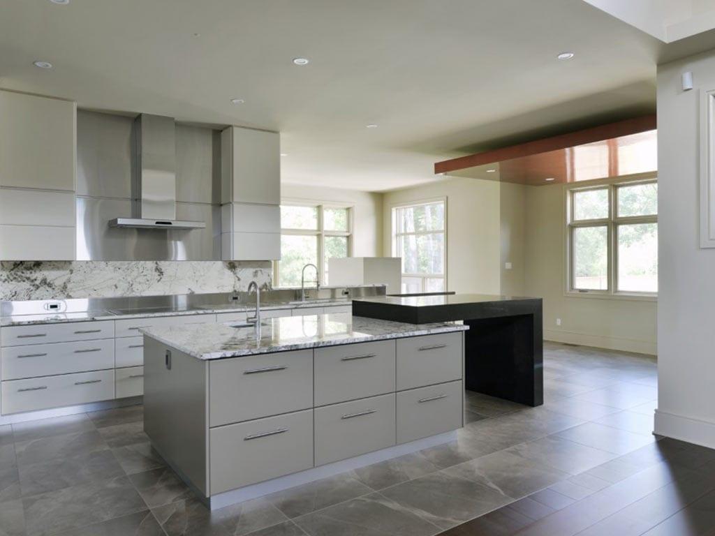 Newly finished granite kitchen