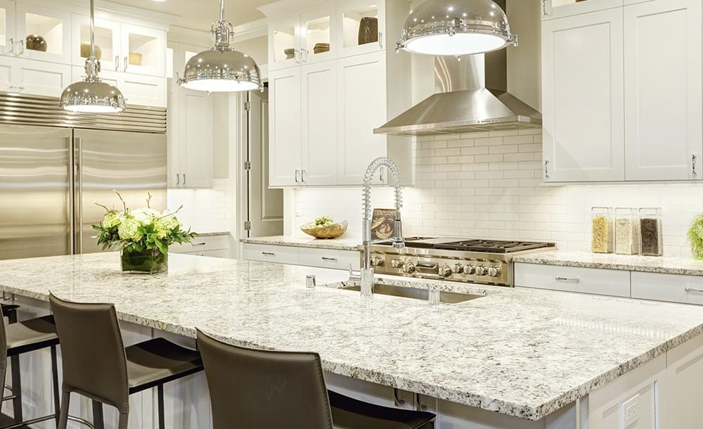 Image of kitchen with granite counter top